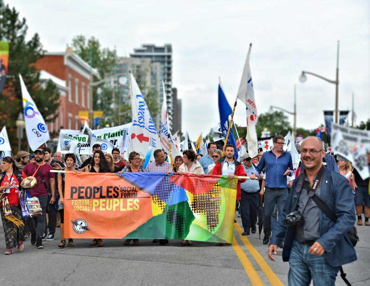 A rally in Ottawa